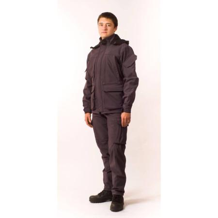 Демисезонный костюм Softshell Gray для рыбалки и охоты (элитный)