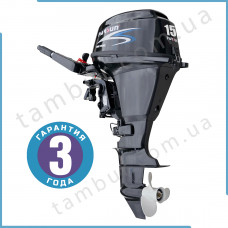 Лодочный мотор Parsun F15A BMS (15 л.с. короткий дейдвуд, электростартер, четырехтактный)