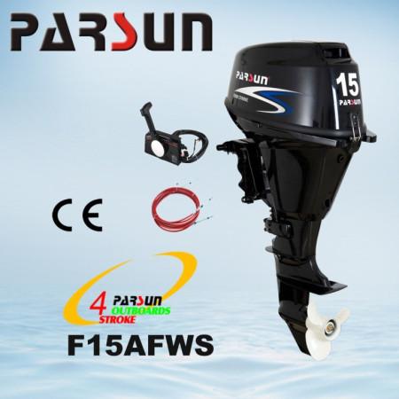 Лодочный мотор Parsun F15A FWS (15 л.с. короткий дейдвуд, стартер, цифровое зажигание, четырехтактный)