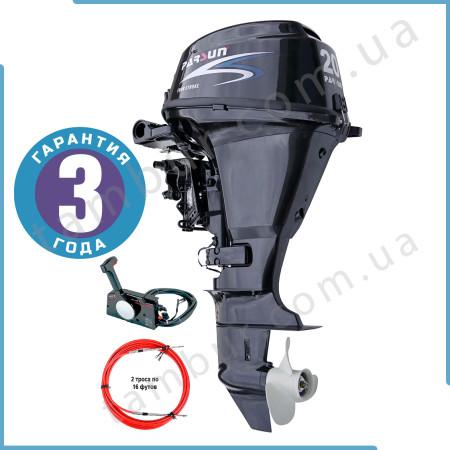Лодочный мотор Parsun F20A FWS (20 л.с. короткий дейдвуд, стартер, цифровое зажигание, четырехтактный)