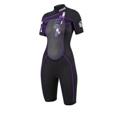 Короткий гидрокостюм Shorty Indy Purple женский