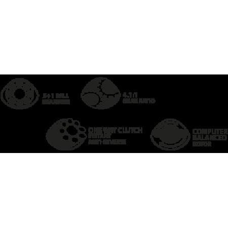Мощная карповая катушка Jumbo 10000BBC reel (бэйтранер, запасная шпуля)
