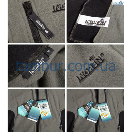 Куртка флисовая Norfin Outdoor Gray (охота, рыбалка, туризм)