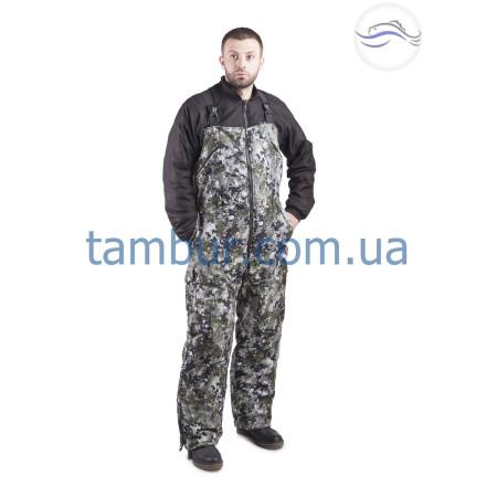 Зимний костюм для рыбалки пиксель зелёный (элитный)