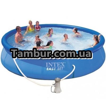 Надувной бассейн INTEX Easy Set Pool+насос-фильтр+картридж