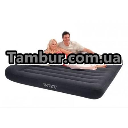 Надувной матрас INTEX Luxe двухспальный с подголовником