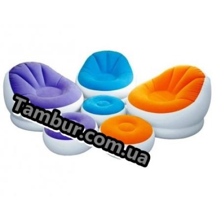 Надувное кресло с пуфиком INTEX(104 СМ Х 109 СМ Х 71 СМ)