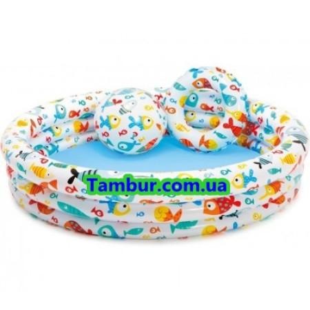 Детский надувной бассейн INTEX 3в1 (132 СМ Х 28 СМ)