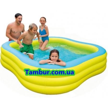 Детский надувной бассейн  INTEX  FAMILY (229 СМ Х 229 СМ Х 56 СМ)