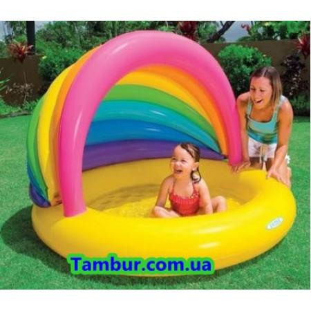 Детский надувной бассейн INTEX ( 155 СМ Х 135 СМ Х 104 СМ)