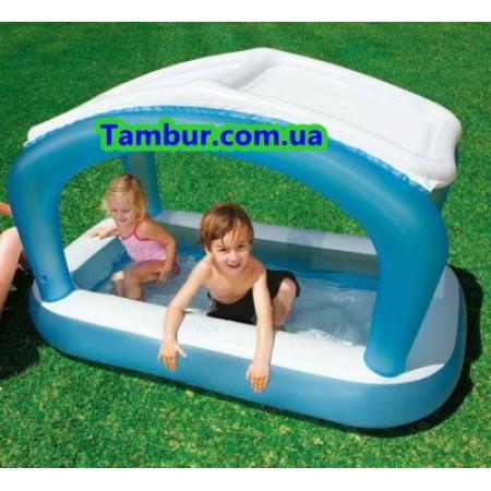 Детский надувной бассейн с навесом INTEX ( 168 СМ Х 99 СМ Х 104 СМ)