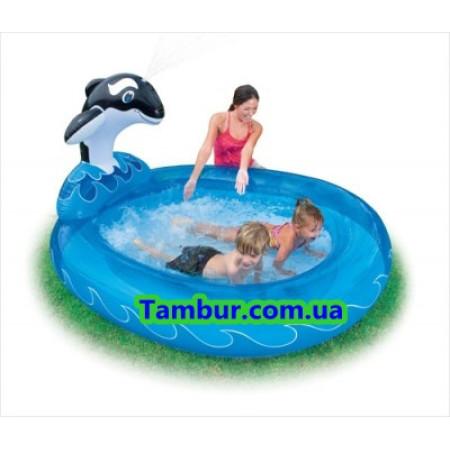 Детский надувной бассейн с фонтаном INTEX (203 СМ Х 157 СМ Х 107 СМ)