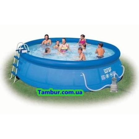 Надувной бассейн INTEX EASY SET POOL(457 СМ Х 107 СМ)