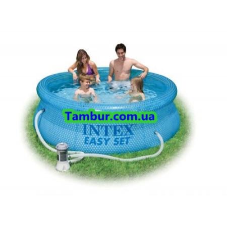 Надувной бассейн INTEX EASY SET POOL (244 СМ Х 76 СМ)+насос-фильтр