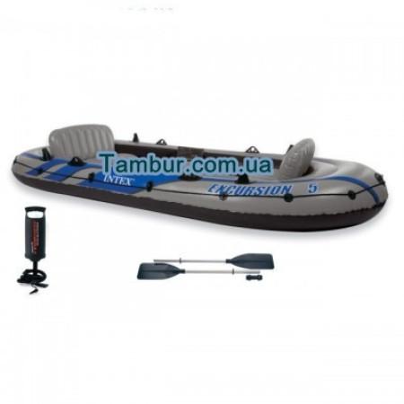 Надувная лодка INTEX пятиместная (366 СМ Х 168 СМ Х 43 СМ) (FULL VERSION)