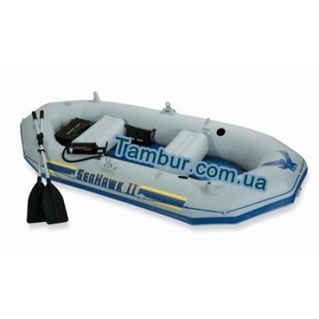 Надувная лодка INTEX трехместная (297 СМ Х 127 СМ Х 46 СМ)