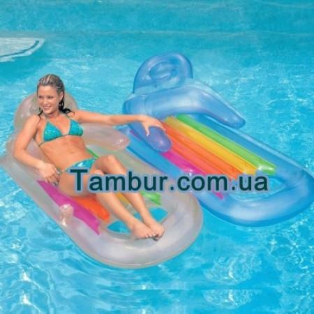 Надувное кресло- матрас для воды INTEX (160 СМ Х 85 СМ)