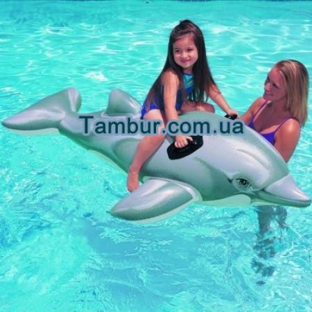 Детский надувной дельфин INTEX (175 СМ Х 66 СМ)