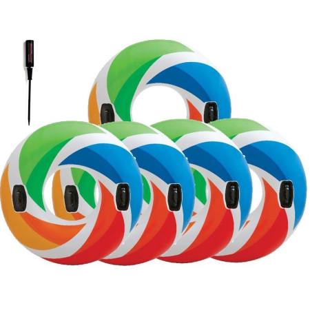 Надувной круг с ручками INTEX (диаметр 122 см)