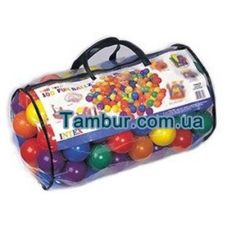 Набор цветных мячей для игрового центра INTEX (8СМ ДИАМЕТР)