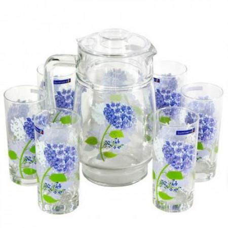 Набор питьевой Luminarc HORTENSIA BLUE 7 приборов