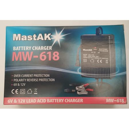 Зарядное устройство MastAK MW-618,  6 и 12V, ток заряда 1800mA