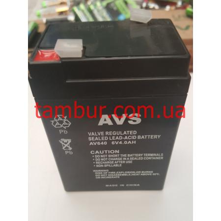 Аккумулятор AVS 4Ah, 6V