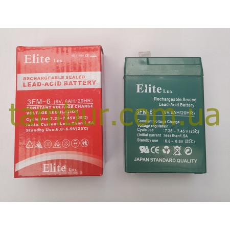 Аккумулятор Elite Lux 6В 6Ач