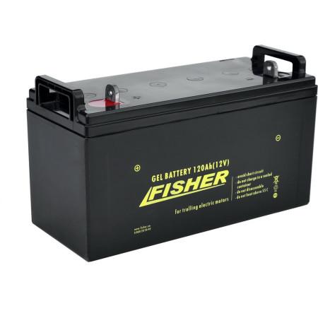 Лодочный электромотор для троллинга Fisher 46 + аккумулятор Gel 120Ah