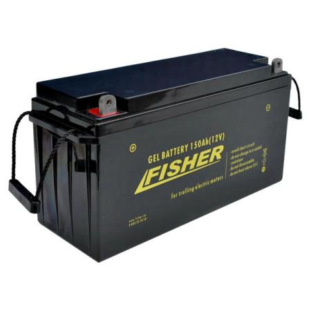 Лодочный электромотор для троллинга Fisher 55 + аккумулятор Gel 150Ah