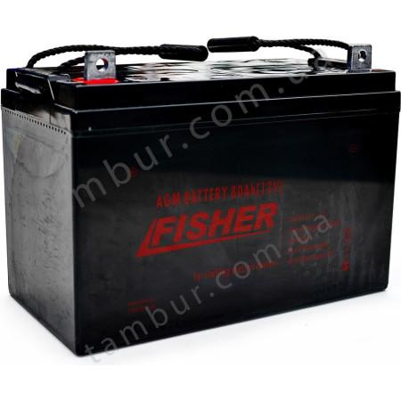 Лодочный электромотор для троллинга Fisher 55 + два аккумулятора AGM 80Ah