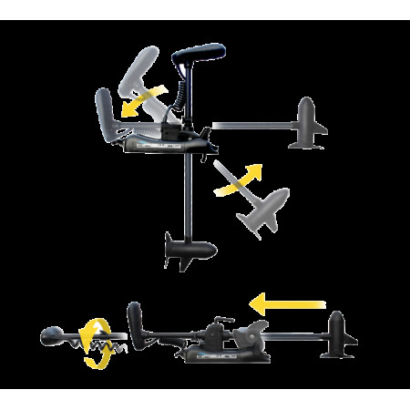 Лодочный электромотор для троллинга Haswing Cayman B  55Lbs белый и черный 12В GPS