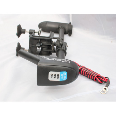 Лодочный электромотор для троллинга 50735 Электромотор Haswing W-20  20lbs + гель Stronger 33Ah