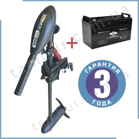 Лодочный электромотор для троллинга  Haswing Osapian 30Lbs черный 12В + гель Haswing 80Ah