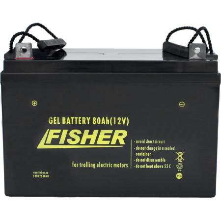 Лодочный электромотор для троллинга  Haswing Osapian 30Lbs черный 12В + гель Fisher 80Ah