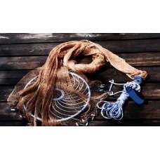 Кастинговая сеть из нитки с большим кольцом фрисби (Американка)