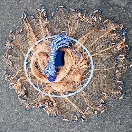 Кастинговая сеть парашют из нитки с большим кольцом фрисби (Американка)