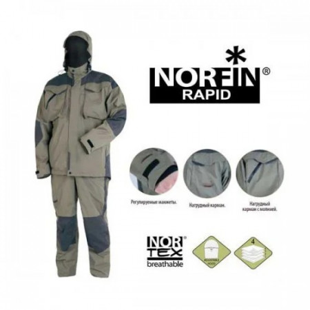 Костюм демисезонный NORFIN RAPID (рыбалка, охота, туризм)