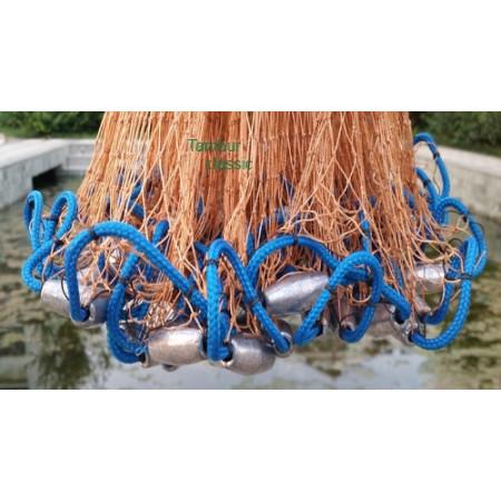 Кастинговая сеть из лески с большим кольцом фрисби (Американка)