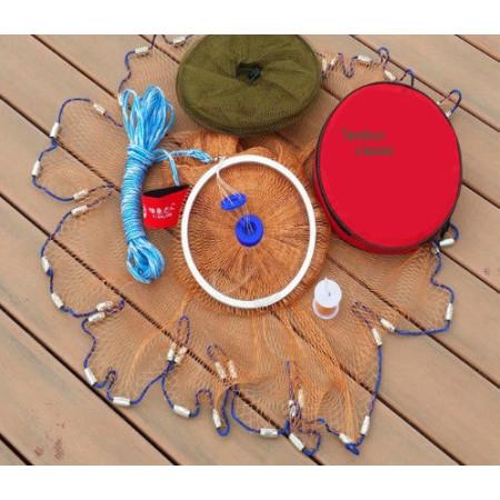 Кастинговая сеть парашют американского типа из нитки с большим кольцом (Американка)